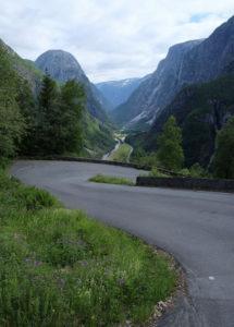 The epic hairpin bends on the Stalheimskleiva road down to Gudvangen