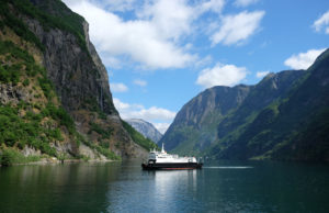 Setting off down the Nærøyfjord from Gudvangen