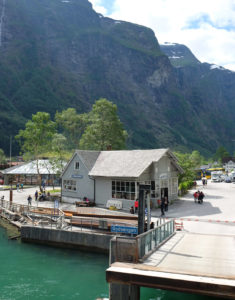 Leaving Gudvangen, a tiny village at the innermost part of the Nærøyfjord