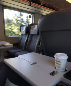 The NSB Komfort train carriage from Myrdal to Oslo
