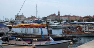 The harbour in Budva on the Mediterranean coast