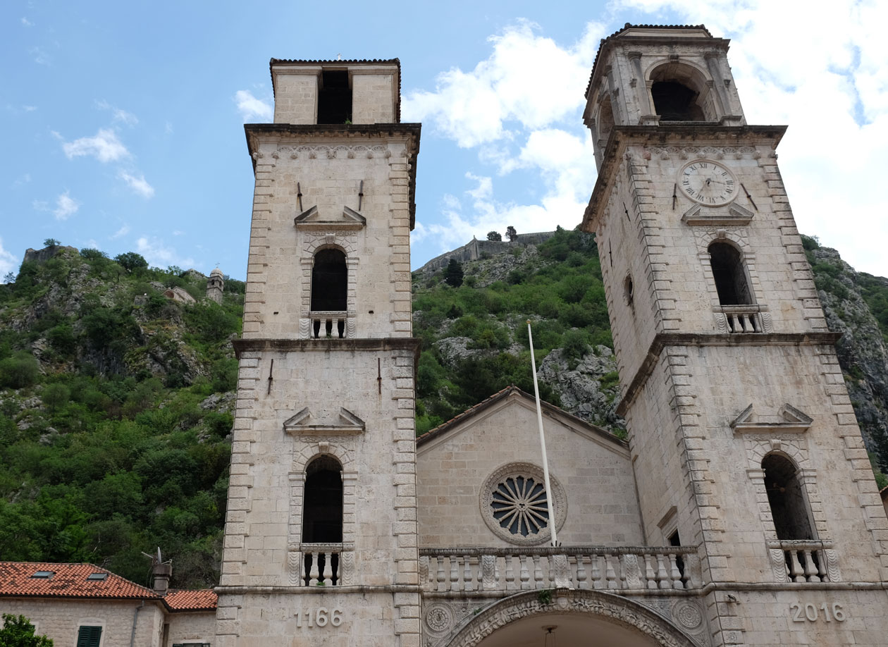 Kotor Cathedral was built in the 12th century