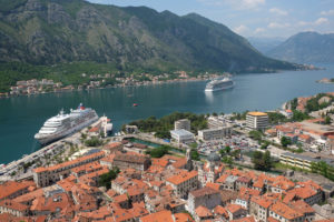 Looking out across the bay of Kotor