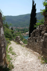 Part of the crumbling city walls in Kotor