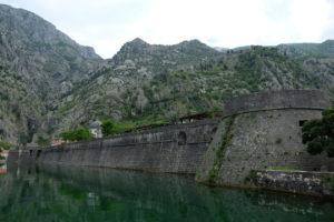 The fortifications around Kotor's old town