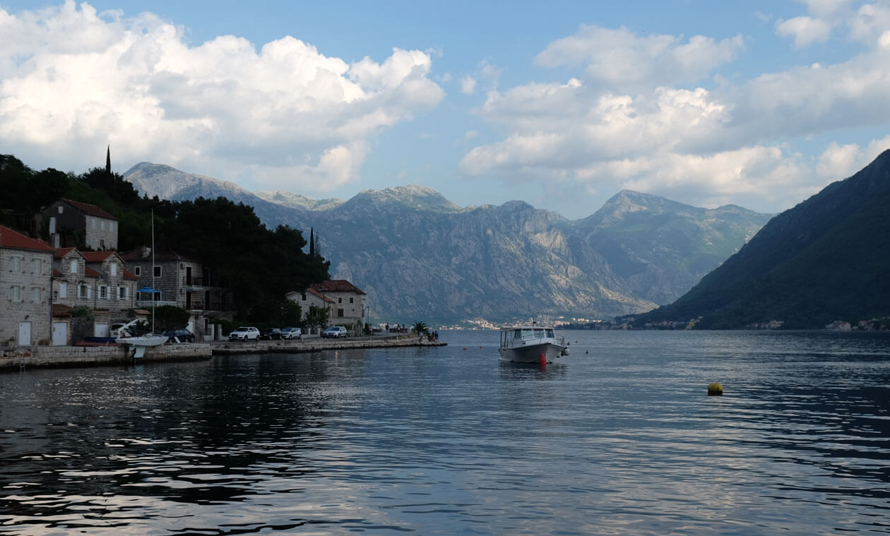 Looking down the bay towards Kotor from Perast