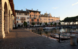 The beautiful harbour in Desenzano, the largest town on Lake Garda