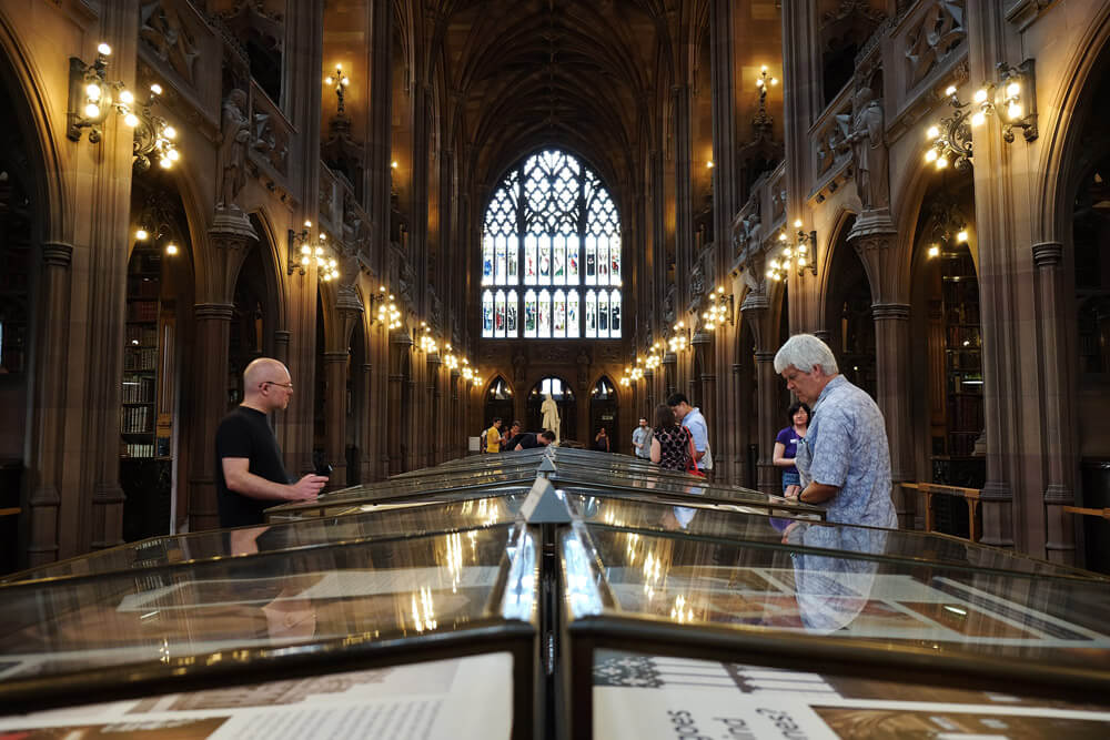 The reading room in the John Rylands Library