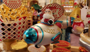 Santa in a spaceship, what's not to love?