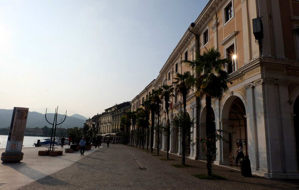 The long promenade in Salò