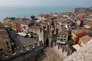 Looking out over Sirmione's rooftops from the castle