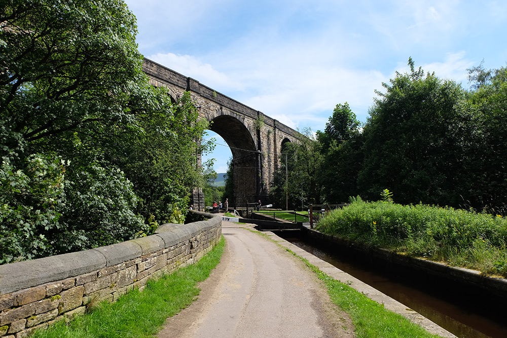 The viaduct in Saddleworth