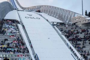 The HolmenKollen ski jump in Oslo