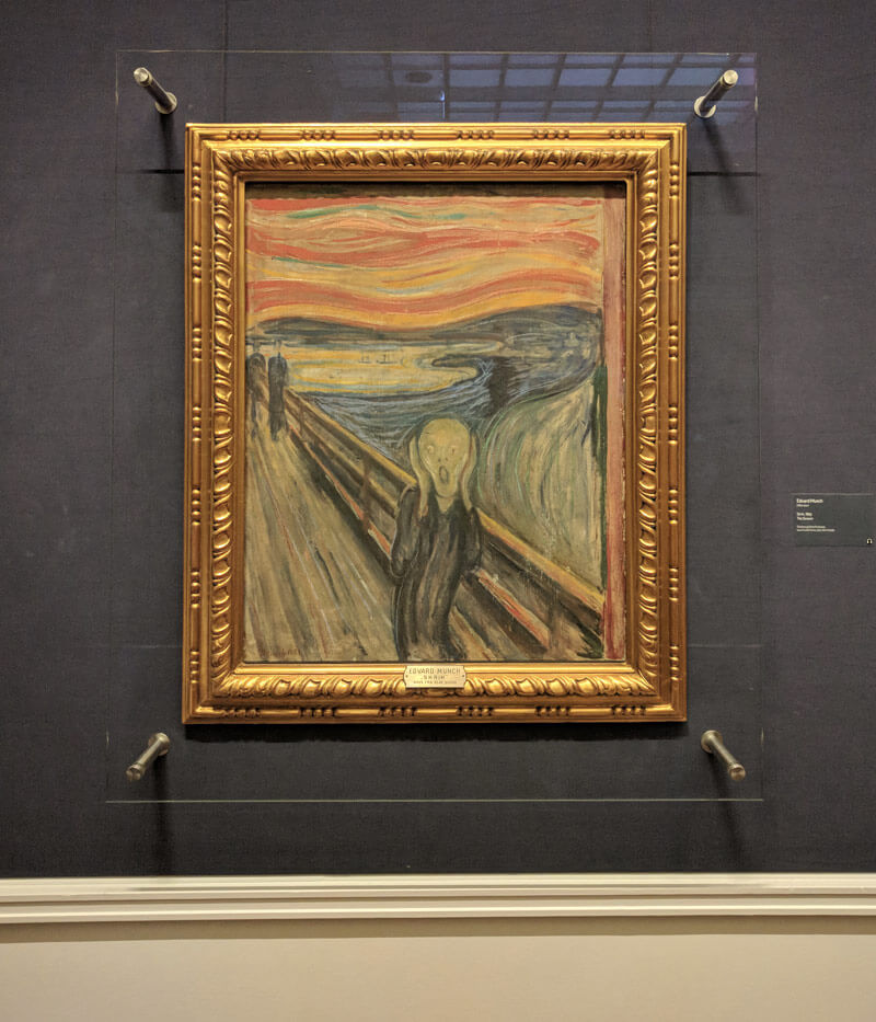 The oldest version of The Scream in Oslo's National Museum