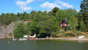 This house in the Helsinki archipelago has its own sea plane
