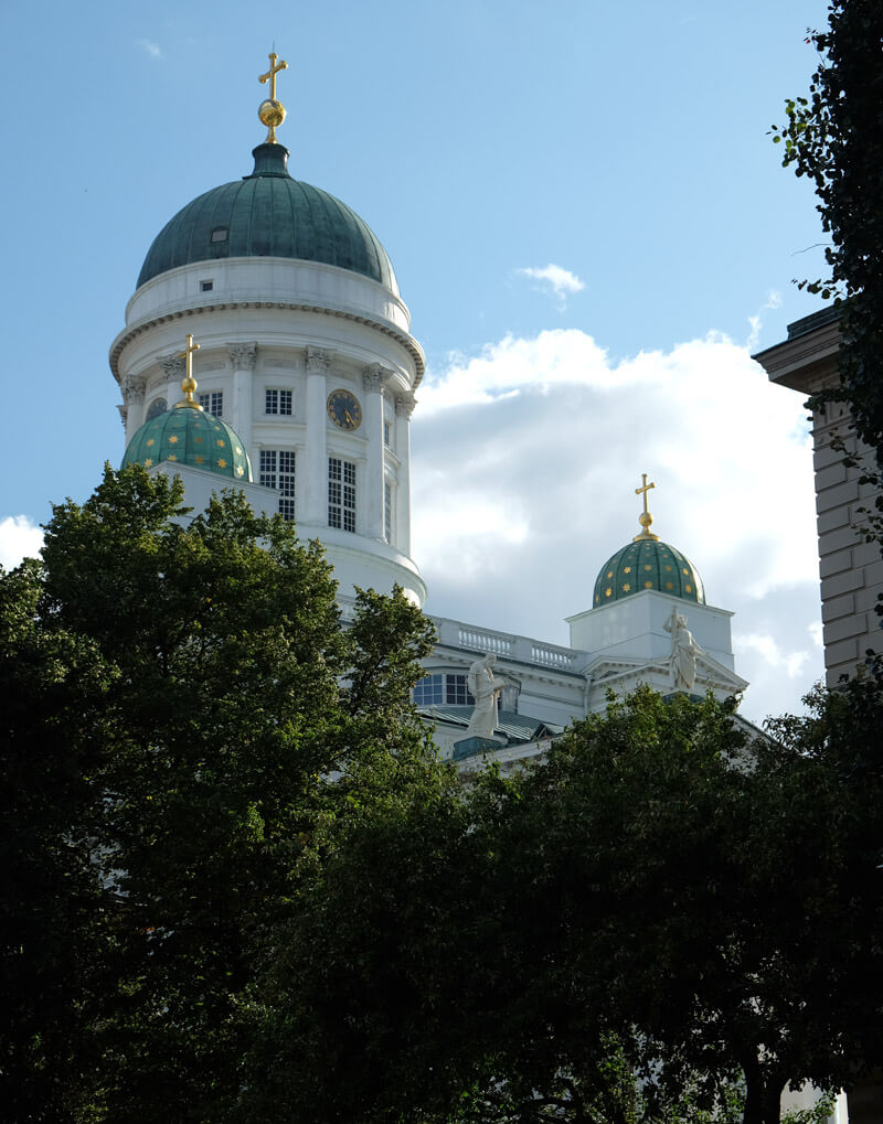 Helsinki Evangelical Lutheran Cathedral is topped with gorgeous star-dotted domes