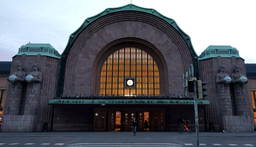 Helsinki Central Station - check out those amazing statues!
