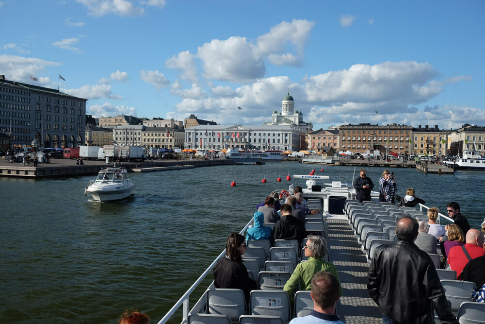 Leaving the harbour on a boat tour of the archipelago and harbours