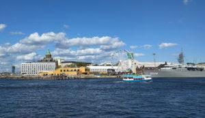 The main harbour in Helsinki