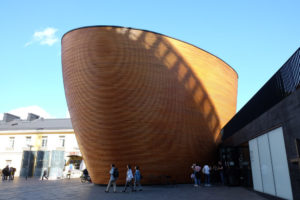 Kamppi Chapel sits in the middle of a busy shopping area