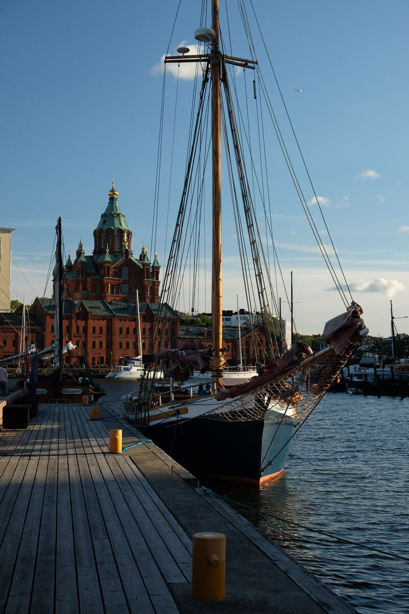 Uspenski Cathedral watches over the waterfront