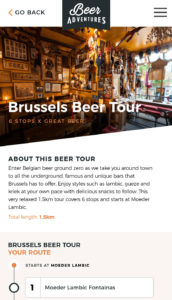 You can take a self-guided tour of Brussels' best pubs with the Beer Adventures app