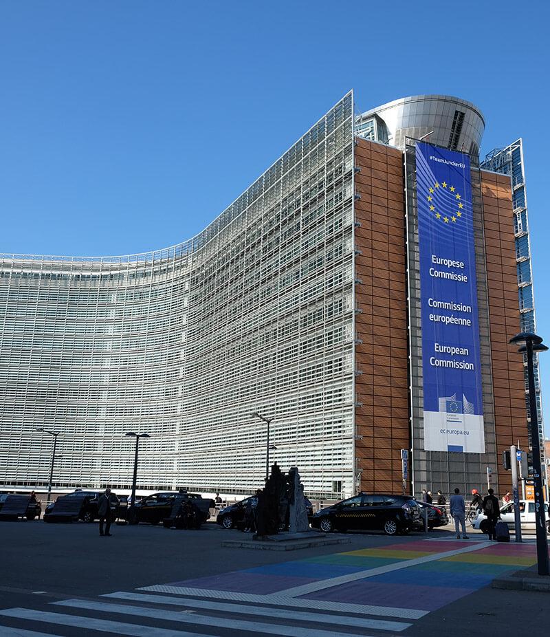 The EU Commission's Berlaymont Building