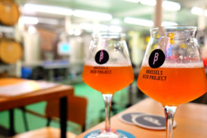 Drinking beer at Brussels Beer Project