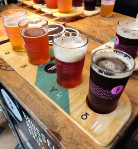 Beer tasting at Brussels Beer Project