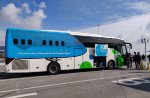 A Flibco bus from Brussels Charleroi Airport to Brussels city centre