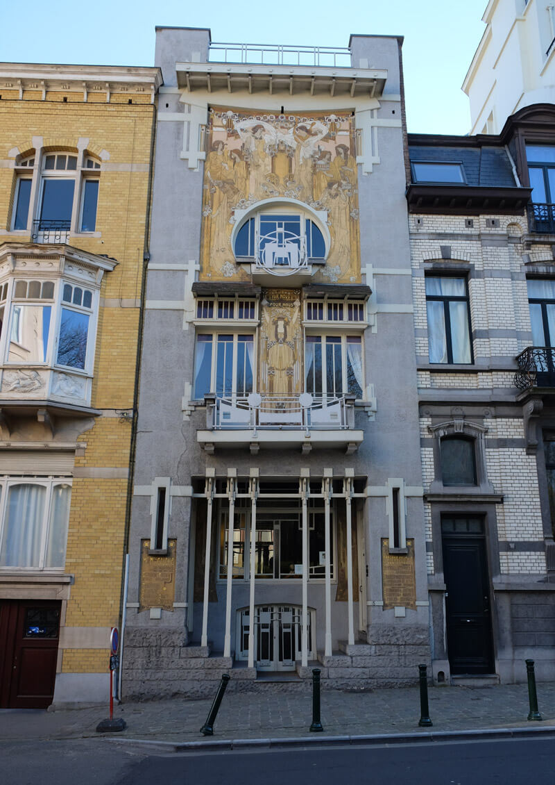 The Cauchie House is a beautiful example of Art Nouveau architecture