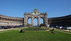The triumphal arch in Parc de Cinquantenaire