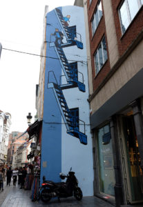 A Tintin mural on the Comic Book Route