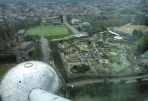 A view of Mini Europe from the Atomium