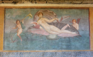 The House of Venus in the Shell has many beautiful wall paintings, including the one that the house is named after.