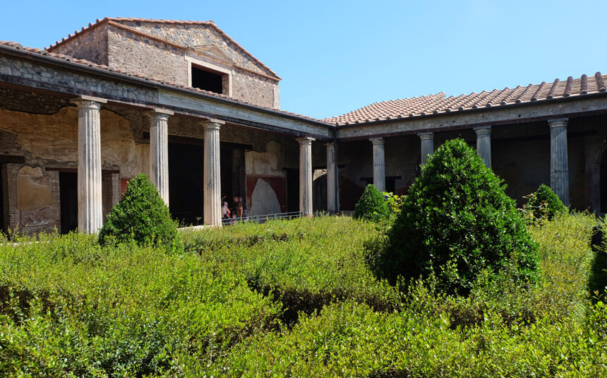 The Casa del Menandro (House of Menander) was one of the grandest villas in Pompeii. It was excavated and restored in the late 1920s and early 1930s.
