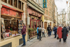 Rue des Bouchers is full of restaurants and bars