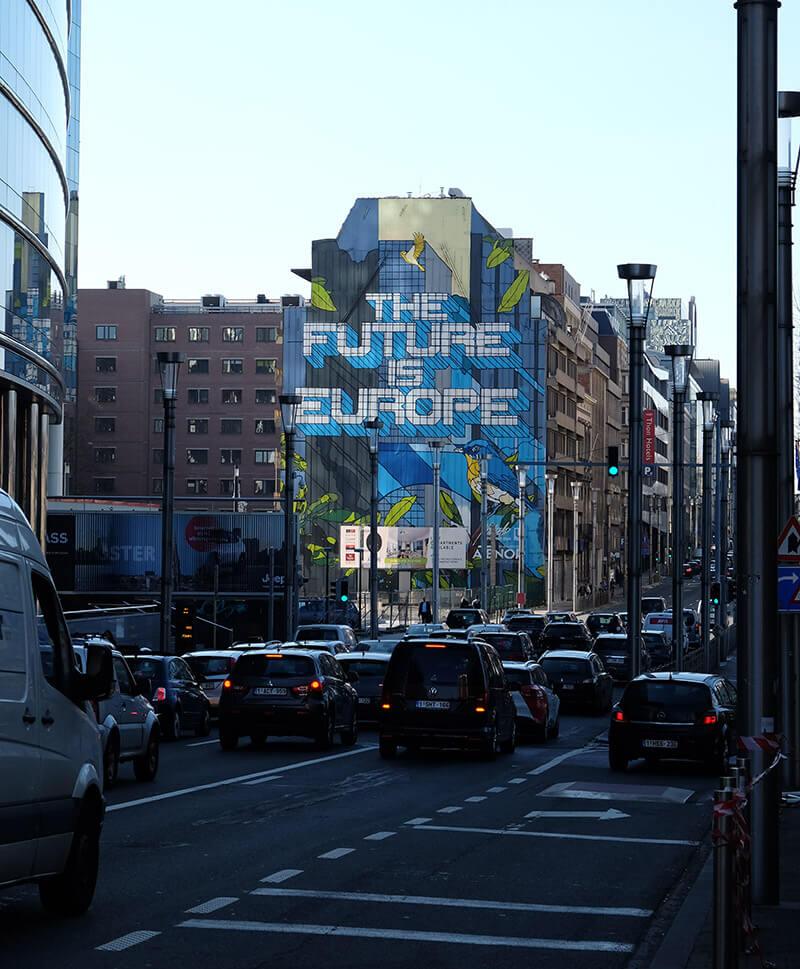 Street art in the European Quarter