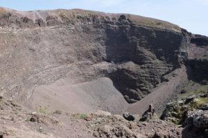 Vesuvius's crater. It's still an active volcano!