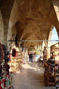 The arched galleries on the first floor of Büyük Han hold a range of small craft shops