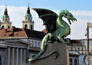 One of the twenty dragons that guard Dragon Bridge