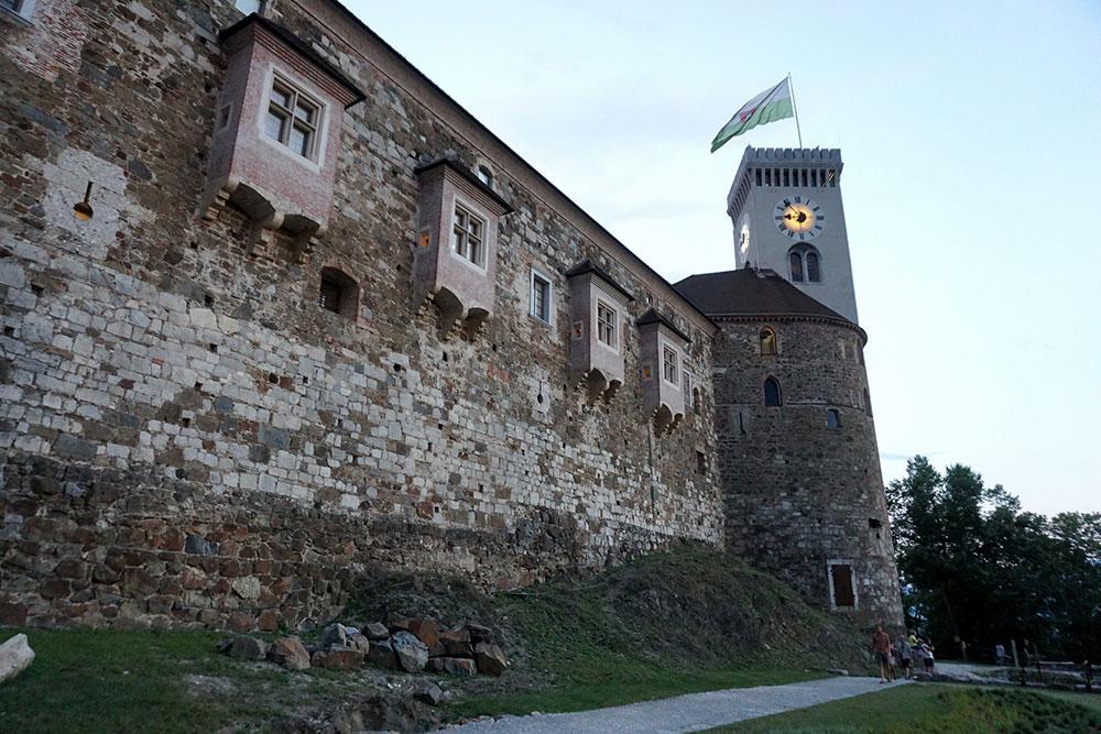 The walls of Ljubljana Castle