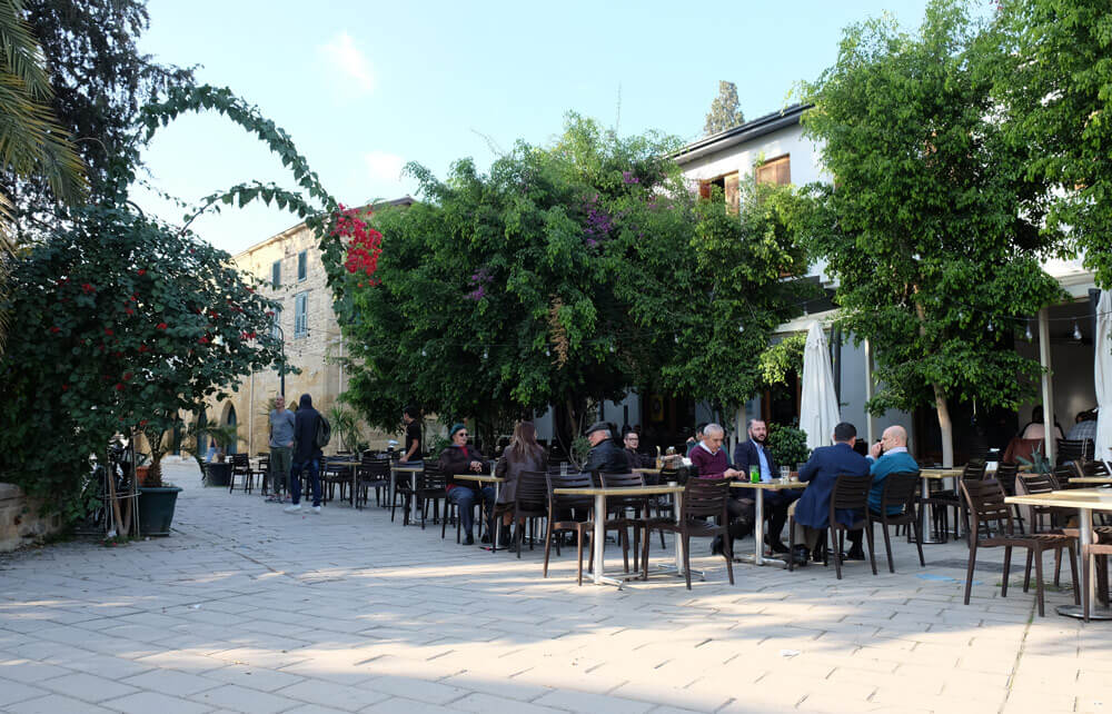 Pavement cafes in the Turkish part of Nicosia