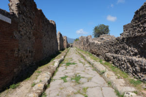 A typical street in Pompeii
