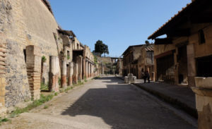 Mount Vesuvius buried Herculaneum in ash rather than rocks