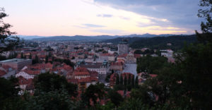 The view over Ljubljana from the castle
