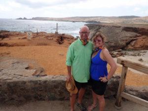 Annick and her boyfriend celebrated his 50th birthday in Aruba