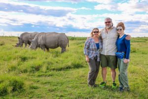 Bret celebrating his 50th birthday in Kenya