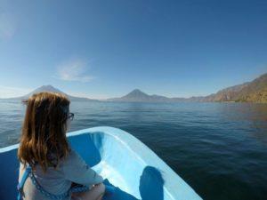 Katja's daughter had her 7th birthday on Lake Atitlán