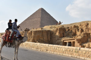 Monica celebrated her 30th birthday on a trip to Egypt